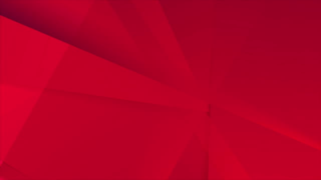 Abstract bright red hi-tech polygonal corporate motion background