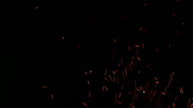 astratto di campo di fuoco scintille sfondo effetto - tizzone video stock e b–roll