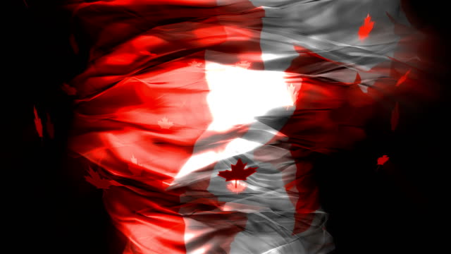 abstract canadian flag tornado - canada flag stock videos & royalty-free footage