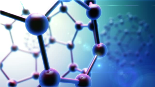 Abstract Carbon Molecule Background video