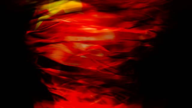 Abstract China National Flag tornado