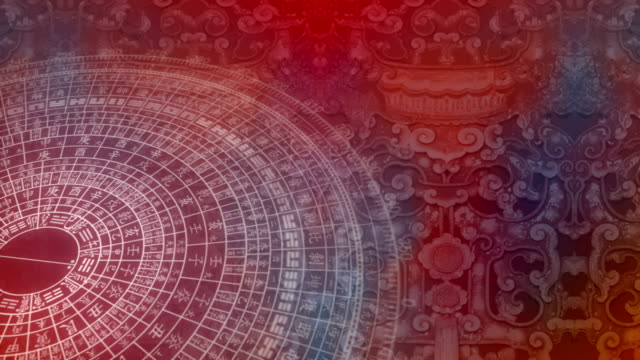 Abstract Chinese pattern - seamless looping video