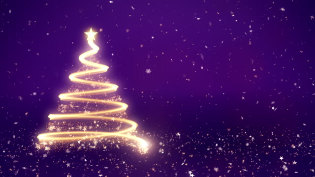 Abstract christmas tree in purple background