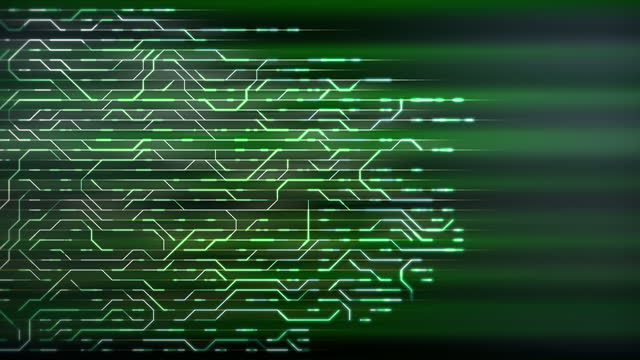Abstract circuit background animation