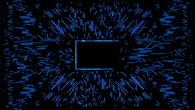 abstract circuit board background with copy space - scheda a circuito video stock e b–roll