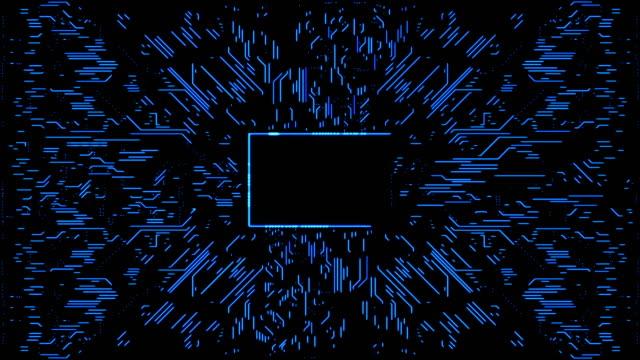 vídeos y material grabado en eventos de stock de resumen circuito de fondo con copia espacio - blue abstract background