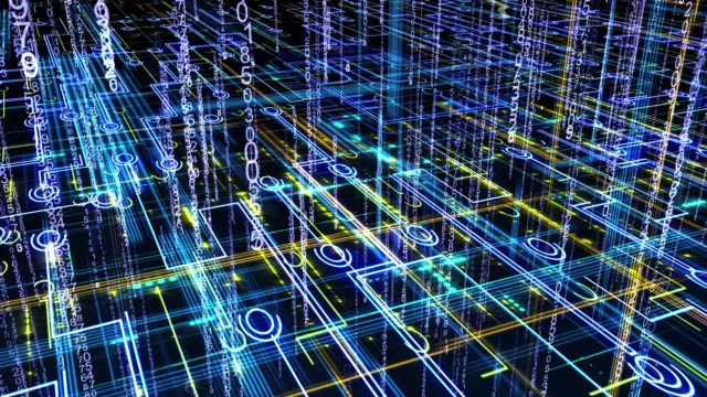 abstract circuitry with digital grid Technology Background