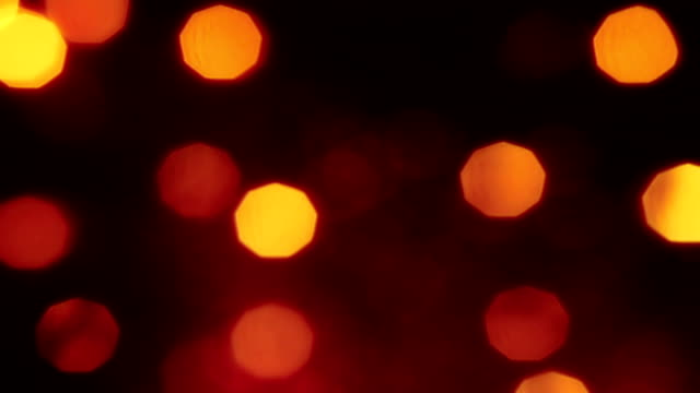 abstract circular bokeh light background, congratulation greeting  party happy new year video