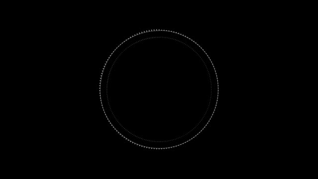 Video Abstract circular spinning spectral wave. Audio spectrum simulation.