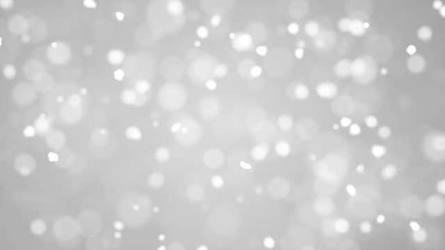 Abstract Clean Blurred Soft Glitter Dust Cloud Tiny Moving Rising Glitter Bokeh Particles Soft Loopable Background