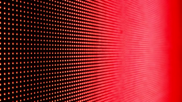 vídeos de stock e filmes b-roll de abstract close up bright colored led smd video wall abstract background - led painel
