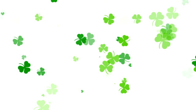 Abstract Clover Leaf Background, St Patric Day video