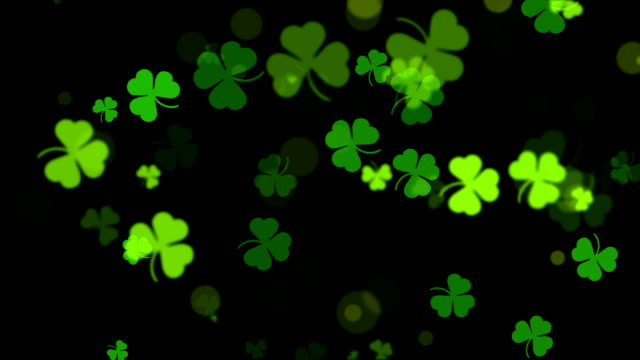 Abstract Clover Leaf Background, St Patric Day Abstract Clover Leaf Background, St Patric Day shamrock stock videos & royalty-free footage