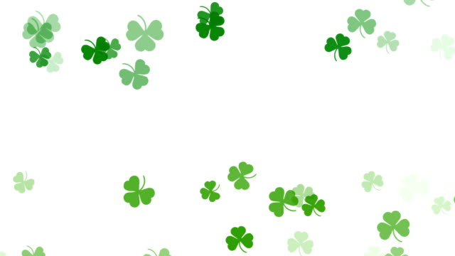 Abstract Clover Leaf Background, St Patrick's Day Abstract Clover Leaf Background, St Patric Day shamrock stock videos & royalty-free footage