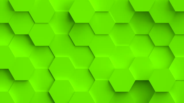 Abstract coloful background with 3D hexagons loop video