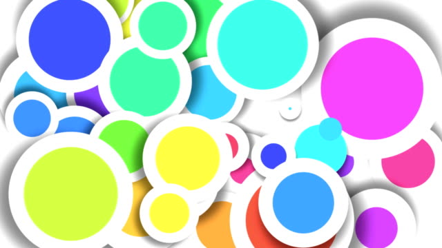 Abstract Colored Circles HD video
