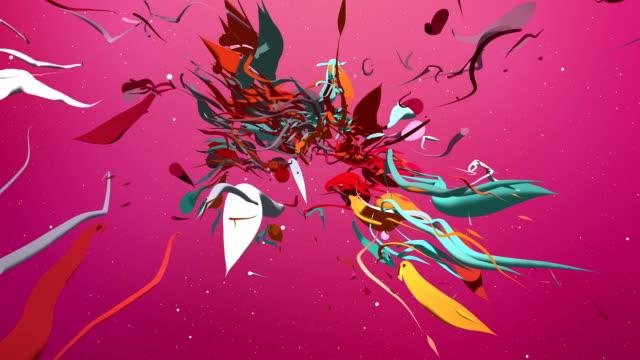 vídeos de stock, filmes e b-roll de abstrato colorido fundo animação 3d de formas - dance music