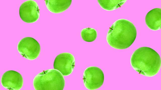 추상 다채로운 과일 애니메이션 - 스톱 모션 스톡 비디오 및 b-롤 화면