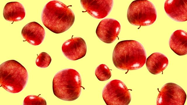 abstrakte bunte obst-animation - apple stock-videos und b-roll-filmmaterial