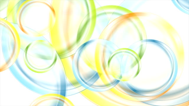 Abstract colorful glossy circles video animation video