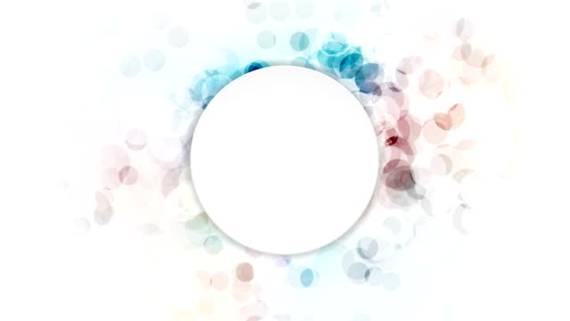 Abstract colorful grunge circles video animation video