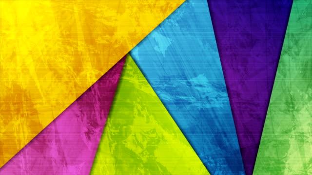 抽象的なカラフルなグランジマテリアルテクスチャモーションの背景 - 玉虫色点の映像素材/bロール