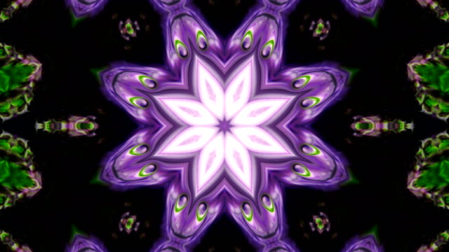 abstract colorful kaleidoscope background movement - мандала стоковые видео и кадры b-roll
