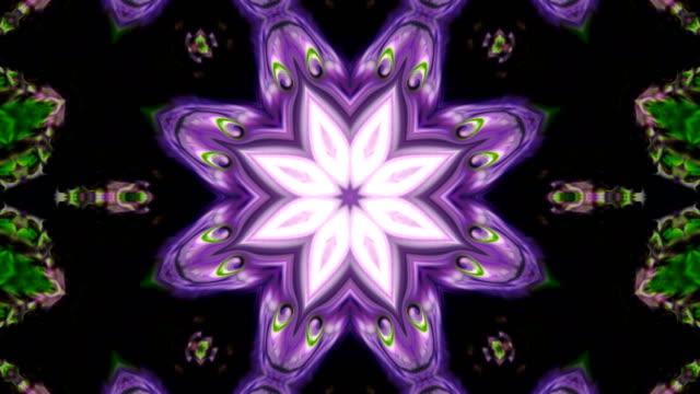 abstrakt färgglada kaleidoscope bakgrund rörelse - mandala bildbanksvideor och videomaterial från bakom kulisserna