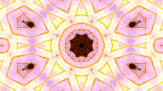 抽象的なカラフルな万華鏡の背景の動き - 万華鏡模様点の映像素材/bロール