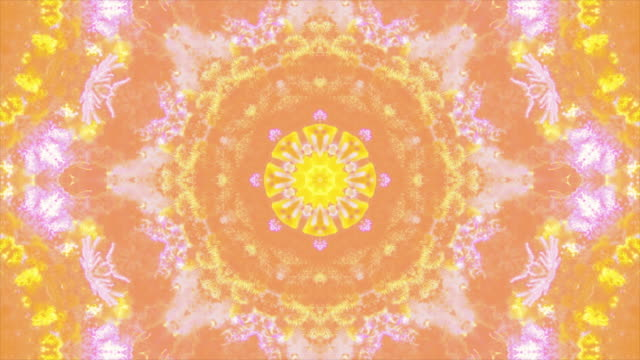 Abstract colorful kaleidoscopic loop background.