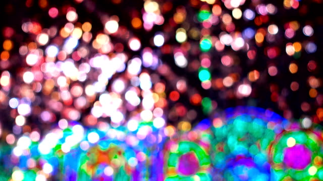 Abstract colorful lights video