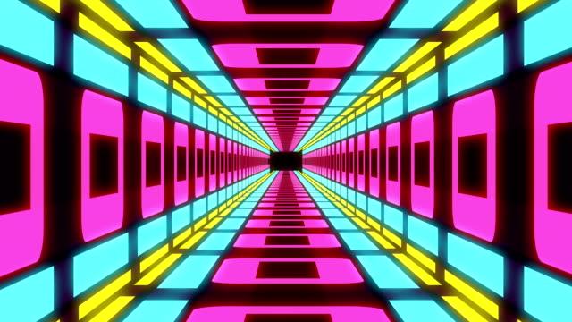 stockvideo's en b-roll-footage met abstract kleurrijk bewegende achtergrond van de tunnel - dancing