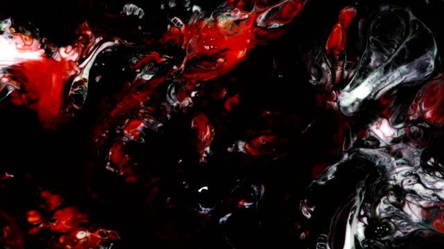 vídeos de stock, filmes e b-roll de pintura abstrata colorida tinta líquido explodir explosão psicodélica de difusão - surreal