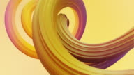 istock Abstract colorful pastel swirl, natural curve art background. Curved and wavy pattern with Candy texture and subsurface scattering. 3D render loop 1212061045