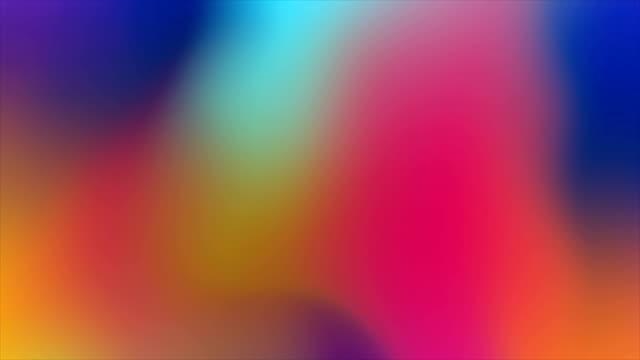 抽象的なカラフルな滑らかなホログラフィックモーションの背景 - 玉虫色点の映像素材/bロール