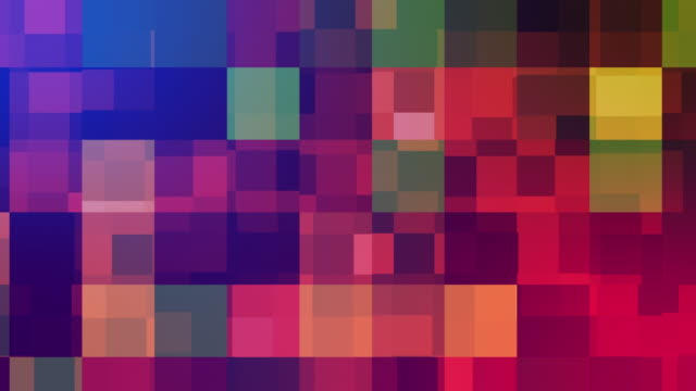 Abstract colorful squares background. 4k Abstract colorful squares background. 4k mosaic stock videos & royalty-free footage