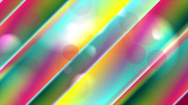 abstract colorful stripes and bokeh video animation - bokeh stock videos & royalty-free footage