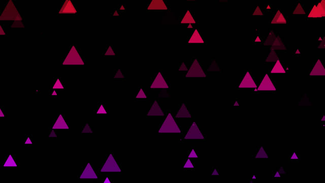 Abstract colorful triangles background.Geometric Shape pattern motion background