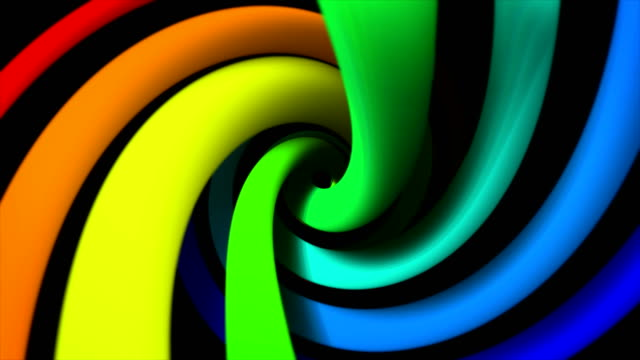 Abstract colorful turning spiral motion background