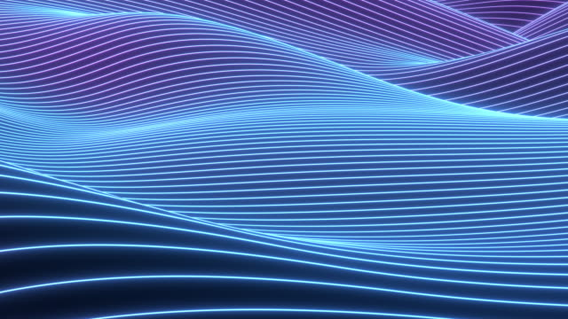 Abstract colorful wavy background in bright neon colors.