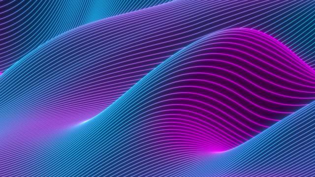 vídeos y material grabado en eventos de stock de fondo ondulado colorido abstracto en colores neón brillantes. - imagen en bucle