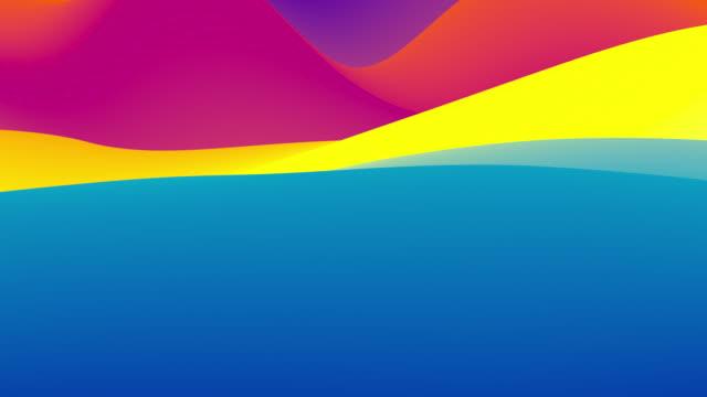 明るい虹の色で抽象的なカラフルな波状の背景。 - 曲線点の映像素材/bロール