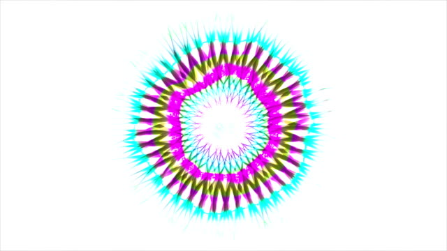 Abstract Coloured Pattern With White background 4 video