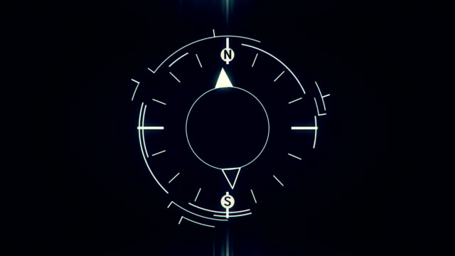 Abstract compass symbol flat animation Abstract compass symbol flat animation on dark background navigational compass stock videos & royalty-free footage