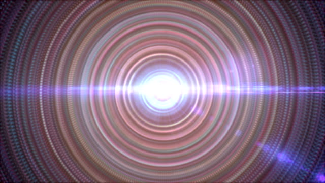 Abstract concentric circles lights background