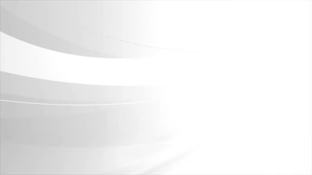 vídeos de stock, filmes e b-roll de tecnologia moderna de conceito abstrato branca ondas fundo movimento - padrão repetido