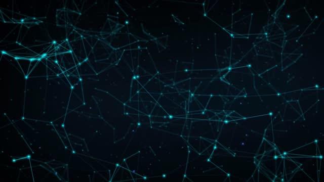 vídeos y material grabado en eventos de stock de puntos de conexión abstractos - plexo