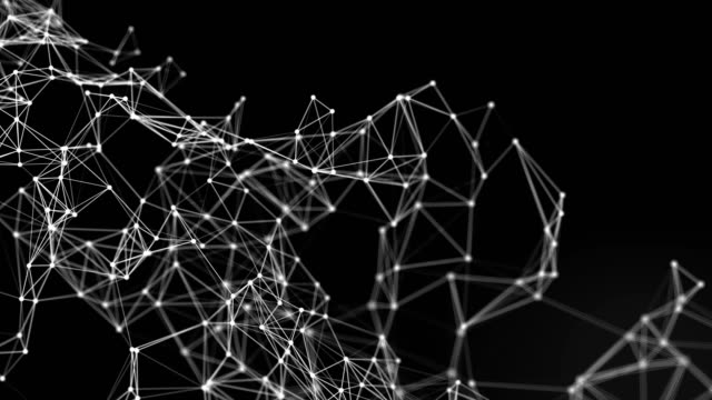 Abstract Connections and Dots Background, Futuristic Technology Concept video
