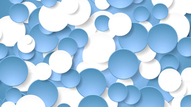 Abstract corporate blue white circles video animation video