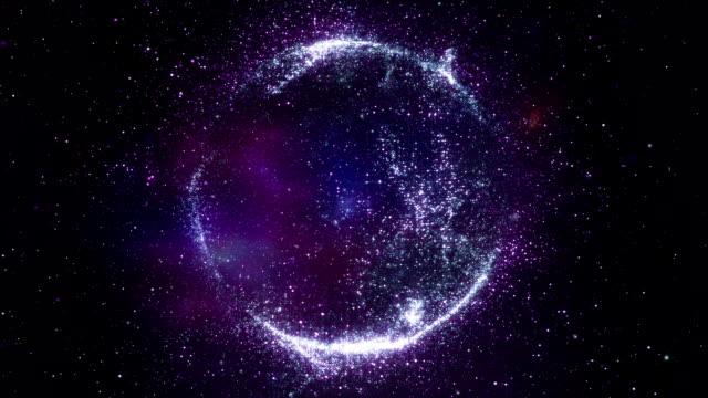 Abstract Cosmic Planet Nebula Starfield